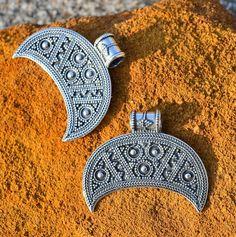 Slavic Silver Lunula Fertility Women Pendant Slavonic Pagan Jewels Lunitsa Lunette Pagan Jewel. From WulflundJewelry in Prague, Czech Republic