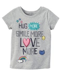 Kid Girl Love More Graphic Tee | Carters.com