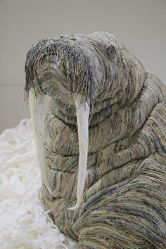 Japanese Artist Transforms Old Newspapers Into Expressive Creatures | The Creators Project