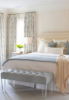 Blue And Grey Ivory Peach Cream Bedrooms Guest