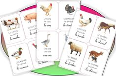 Les imagiers - (page - Pépinette à l'ecole Animal Activities, Learning Activities, Kids Learning, Fun Facts About Animals, Shapes For Kids, Petite Section, Nursery School, Montessori Materials, Learn French