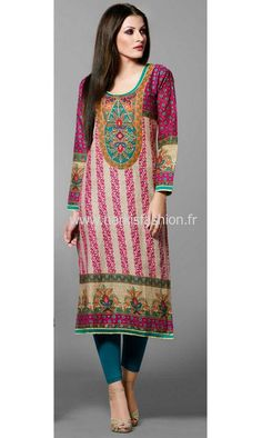 Tunique Indienne - Rose Indian Kurty