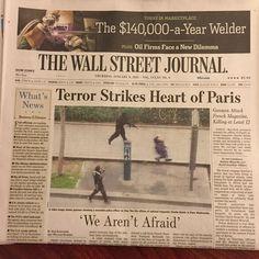 Das Wall Street Journal. #jesuischarlie #charliehebdo