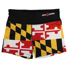 decf8210f85eb Maryland Full Flag / Stretch Shorts #Maryland #Yoga-Pants-+-Shorts. Route  One Apparel