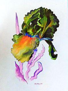 Digital painting (photo manipulation) of an iris - fun! Colored Pencil Artwork, Colorful Drawings, Fabric Art, Photo Manipulation, Art Images, Different Colors, Fine Art America, Paper Art, Iris