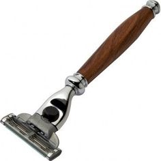Turn your own elegant shaver handle with this polished shaving razor hardware kit. Turning blank not included.