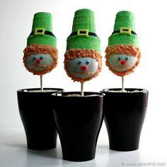 leprechaun cake pops