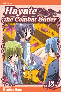 Hayate 13 • Hayate the Combat Butler by Kenjiro Hata (Hayate no Gotoku) Manga Covers Viz English Version Maid Cosplay, Manga Covers, Rest In Peace, Priest, Butler, Mansion, Anime, Heaven, English