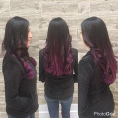 We can't say it enough, life's too short for boring hair! Purple ombre by Stylist : Jen. Call 734-464-8686 for appointments. #purplehair #ombre #detroitstylist #detroithair #livoniastylist #novistylist #hair #haircolor #behindthechair #wella #wellasalon #gorgeous #slay