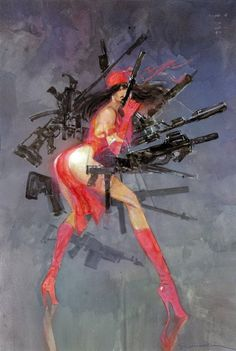 Bill Sienkiewicz & Frank Miller are Elektra