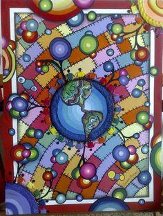 -MUNDOS COOPERATIVOS- cuadro para el concurso de las cooperativas!!    1º Premio publico, 1º premio niños, 3re mención del jurado