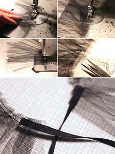 DIY Tüllkragen Arrow Necklace, Cufflinks, Tulle, My Style, Inspiration, Accessories, Jewelry, Halloween, Nice Asses