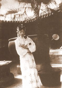 Empress Wanrong of China with her dog