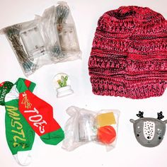"December 2020 Box ❤️ Beanie with ponytail hole, LED lights, mistletoe socks, cactus snow globe, reindeer trinket tray, and snow globe DIY kit. ""Take care of yourself from your head to your mistletoes."" #youmatterbox Diy Snow Globe, Snow Globes, Ponytail Beanie, You Matter, Mistletoe, Diy Kits, Take Care Of Yourself, Reindeer, Cactus"