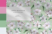 Apple Blossom Pattern Bundle by olga. Textile Prints, Home Textile, Print Patterns, Create Yourself, Pattern Design, Hand Painted, Apple, Watercolor, Digital