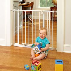 Baby gates are the most effective way to keep your baby safe. Browse our selection of plastic, metal, and wooden baby gates, extensions, and more here. Safety Gates For Stairs, Baby Gate For Stairs, Child Safety Gates, Wooden Baby Gates, Metal Baby Gate, Metal Gates, Best Baby Gates, Play Yard, Baby Safety