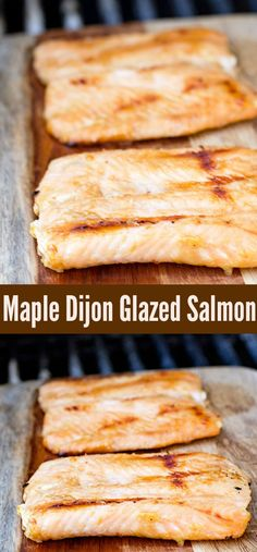 This Easy Glazed Maple Dijon Salmon Recipe has just 3 ingredients and is ready in 15 minutes! Maple syrup and Dijon mustard give this barbecue fish recipe gourmet flavour that's perfect for entertaining. Make sure to save it to your dinner recipe board to Salmon Recipes, Seafood Recipes, Gourmet Recipes, Great Recipes, Favorite Recipes, Delicious Recipes, Amazing Recipes, Maple Syrup Salmon, Dijon Salmon