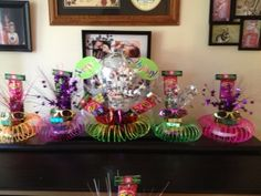 Centerpieces for 80s party