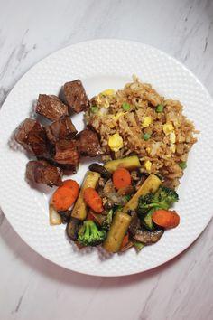 Date Night Hibachi Steak and Veggies - Kait's Kitchen Hibachi Recipes, Easy Steak Recipes, Grilled Steak Recipes, Grilling Recipes, Veggie Recipes, Asian Recipes, Cooking Recipes, Japanese Recipes, Hibachi Chicken