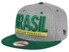 Brazil Brazil Flag Phrase 9FIFTY Snapback Cap