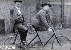 Teamwork. Charles B. Tripp the armless man and Eli Bowen the legless man. 1890s.