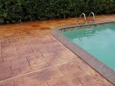 Love it!!  -  Stamped concrete pool deck.