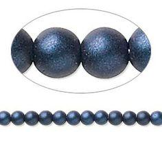 Light Sapphire Blue 100 4mm Round Pressed Czech Glass Druk Beads