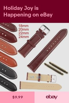Enthusiastic New 12mm 14mm 16mm 18mm 20mm 22mm 24mm Red Genuine Leather Watch Band Strap Jewelry & Watches