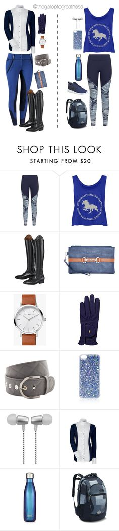 """""""Midnight Mood"""" by thegalloptogreatness ❤ liked on Polyvore featuring Under Armour, VERONA, The Horse, Topshop, Cynthia Rowley, S'well, The North Face and NIKE"""