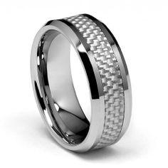 8mm White Carbon Fiber Inlay Men's Cobalt Free Tungsten Carbide Comfort-fit Wedding Band Ring (Size 6 to 15), http://www.amazon.com/dp/B005GQRF06/ref=cm_sw_r_pi_awdm_cJLjtb18G7C9T