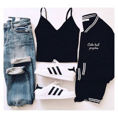 Cute outfits for school that are easy and trendy can be hard to put together sometimes. Laid back or fashionista, we have cute outfits for you! Teen Fashion Outfits, Outfits For Teens, Fall Outfits, Womens Fashion, Fashion Ideas, Dress Outfits, Style Fashion, Fashion Top, Fashion Black