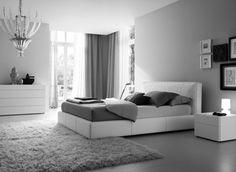19 Idées de chambres grises et blanches