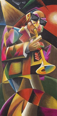 Jazz Horn Painting by Bob Gregory