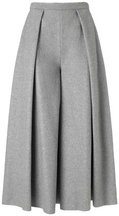 Shop for Rejina Pyo Grey Wool Calra Culottes at ShopStyle. Now for Sold Out. Fashion Pants, Hijab Fashion, Fashion Dresses, Hijab Stile, Skirt Pants, Pleated Pants, Mode Hijab, Pants Pattern, Fashion Sewing