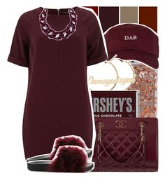 """Untitled #42"" by desirenelle ❤ liked on Polyvore featuring The High Rise, Hershey's, Chanel, Dorothy Perkins, Cape Robbin and DIANA BROUSSARD"