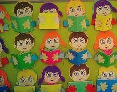 Risultati immagini per kütüphane ile ilgili sanat etkinlikleri Paper Doily Crafts, Alphabet Letter Crafts, Preschool Decor, Cute Kids Crafts, Recycled Art Projects, Craft Sites, 3rd Grade Art, Art N Craft, Classroom Crafts