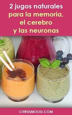 2 natural juices for memory, brain and neurons. Rich and healthy! - All Diseases Healthy Juices, Healthy Smoothies, Healthy Drinks, Smoothie Recipes, Diet Recipes, Healthy Recipes, Clean Eating Snacks, Healthy Eating, Foods For Abs