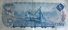 $ 5 billet canadien / Canadian $5 Bill (1/2) Canadian Dollar, Painting, Art, Banknote, Art Background, Painting Art, Kunst, Gcse Art, Paintings
