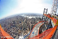 """""""From on top of One WTC, you can see the East River bridges, Brooklyn and Queens."""" 