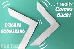 Did you know you can make Origami Boomerang that really comes back out a simple sheet of paper? Follow these simple Origami Boomerang instructions for hours