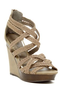 Bucco Monaly Strappy Wedge Sandal