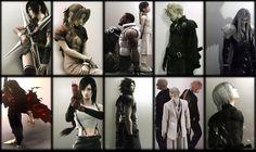 Tags: Final Fantasy VII, Nomura Tetsuya, SQUARE ENIX, Wallpaper, Cloud Strife, Sephiroth, Yuffie Kisaragi, Aerith Gainsborough, Vincent Valentine, Zack Fair, Kadaj, Turks, Reno, Rude, Tifa Lockhart, Rufus Shinra