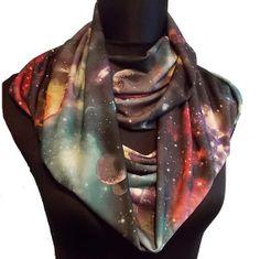 Galaxy Stars & Planets Print Soft Lycra Infinity by AnickasCottage, $17.50