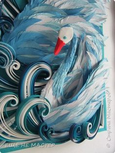 Лебединое озеро. | Страна Мастеров Quilling Comb, Rooster, Diy And Crafts, Painting, Animals, Art, Paper Mache, Art Background, Animales