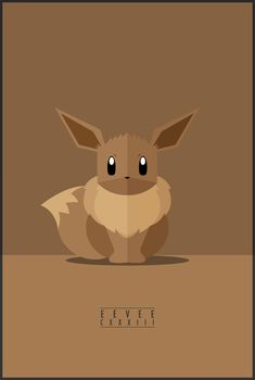 Minimalistic Illustrations Of Various Evolved Forms Of The Eevee Pokémon