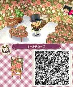 Rose Floral Wallpaper - Animal Crossing New Leaf Animal Crossing 3ds, Animal Crossing Qr Codes Clothes, Animal Games, My Animal, Pattern Leaf, Acnl Paths, Motif Acnl, Code Wallpaper, Ac New Leaf