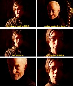 Arya Stark & Tywin Lannister on King Robb. Love the look she gives him... #gameofthrones