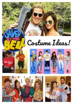 Easy Saved By The Bell Costumes and A Look at the Complete Collection 90s Party Costume, 90s Theme Party Outfit, Themed Outfits, Diy Costumes, Costume Ideas, Family Halloween, Halloween Outfits, Halloween House, Halloween Stuff