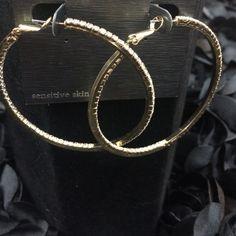 "Selling this ""LISTING Gold Diamond Hoops"" in my Poshmark closet! My username is: cindyciara. #shopmycloset #poshmark #fashion #shopping #style #forsale #cezanne #Jewelry"