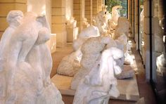 The marble gallery, Musee Rodin, Paris